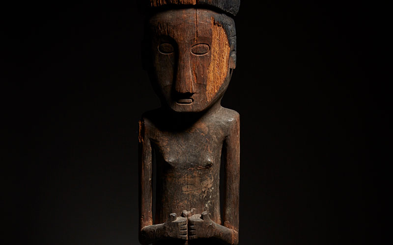 Ancestral Figure, Indonesia, Late 19th Century, Hand-carved Wood